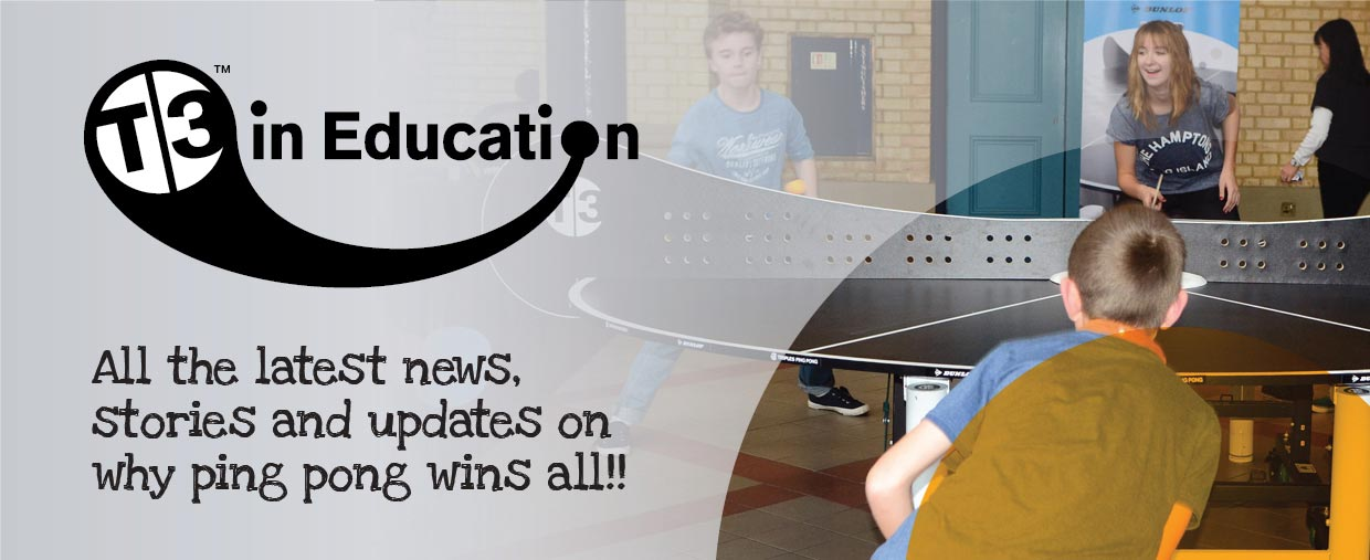 T3 in Education - All the latest news, stories and updates on why ping pong wins all