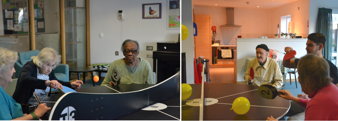 T3 ping pong dementia study at care home in north london