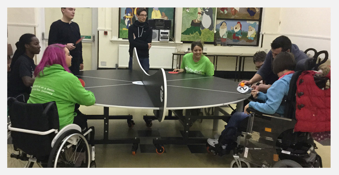 T3 Academy visit whizz kidz in swansea